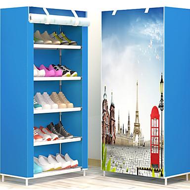 abordables Accessoires pour Chaussures-Cintre & Range Chaussures Etoffe non tissé 18 paires Unisexe Bleu / Marron / Rose Claire