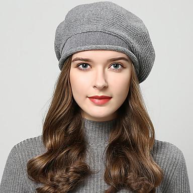 billige Hodeplagg til fest-Ull Hatter med Kasket / Solid 1 Deler Bryllup / Dagligdagstøy Hodeplagg