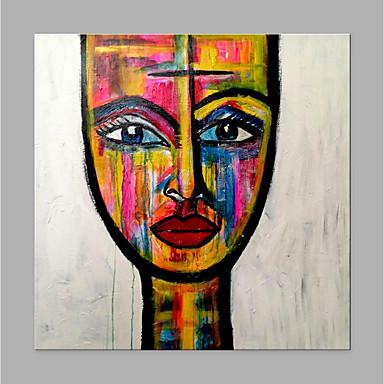 Hang oslikana uljanim bojama Ručno oslikana - Sažetak Ljudi Klasik Moderna Bez unutrašnje Frame / Valjani platno