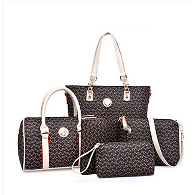 28c26d2ae0 Γυναικεία Τσάντες PU Σετ τσάντα 6 σελ. Σετ πορτοφολιών Βυσσινί   Καφέ    Ουρανί