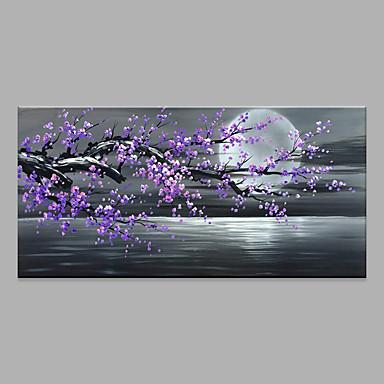 billige Uten Indre Ramme-Hang malte oljemaleri Håndmalte - Abstrakt Blomstret / Botanisk Moderne Uten Indre Ramme / Valset lerret