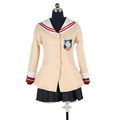 Inspirirana Clannad školarke / Nagisa Furukawa Anime Cosplay nošnje Japanski School Uniforms Jednobojni / Jednostavan Suknje / Top / T-majica Za Muškarci / Žene