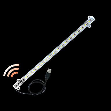 billige LED Strip Lamper-zdm® 1pc 100cm vanntett gestus sensor stiv ledet lysstenger 5050 smd kald hvit / varm hvit / kroppssensor / nytt design / usb drevet dc5v