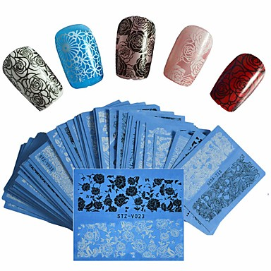 48 pcs Naljepnica za prijenos vode Kreativan nail art Manikura Pedikura Najbolja kvaliteta pomodan / Moda Dnevno