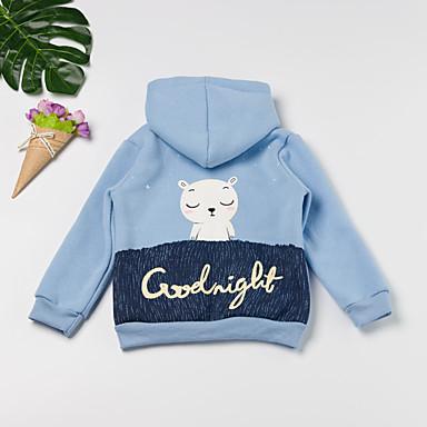 baratos Camisas para Meninos-Bébé Para Meninos Activo Básico Diário Para Noite Rabbit Galáxia Estampado Estampado Manga Longa Padrão Algodão Blusa Azul Claro