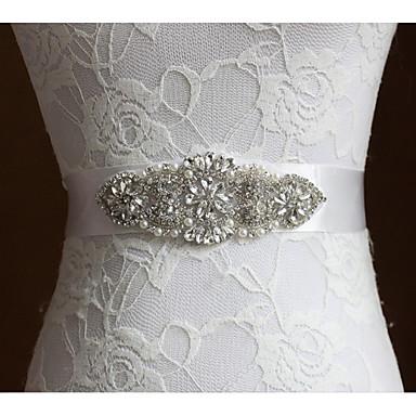 Poly / Bomull Blanding Bryllup / Spesiell Leilighet Bånd Med Imiterte Perler / Krystall / Rhinestone Dame Skjerf