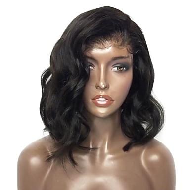 498fa74d8ed Remy Human Hair Lace Front Wig Bob Short Bob Wendy style Malaysian ...