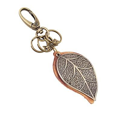 Klasični Tema / Leaf Shape / Kreativan Privjesak favorizira Krom / Teleća koža Privjesci za ključeve - 1 pcs Sva doba