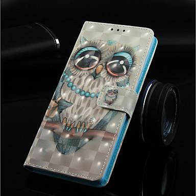 Θήκη Za Huawei Huawei Note 10 / Huawei Honor 10 / Huawei Honor 8X Novčanik / Utor za kartice / sa stalkom Korice Sova Tvrdo PU koža