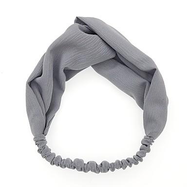 economico Accessori da serata per capelli-Tessuto con Tinta unita 1 pezzo Da tutti i giorni / All'aperto Copricapo