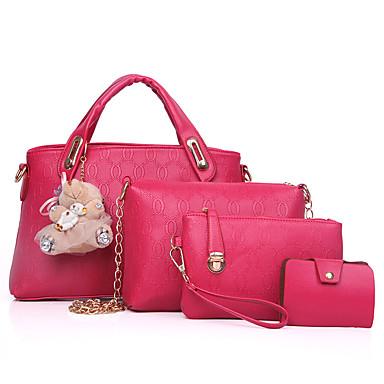 fce1b1d532 Γυναικεία Τσάντες PU Σετ τσάντα 4 σετ Σετ τσαντών Αρκούδα   Καρφιά Συμπαγές  Χρώμα Βυσσινί   Κίτρινο   Φούξια   Τσάντα Σετ   Φθινόπωρο   Χειμώνας