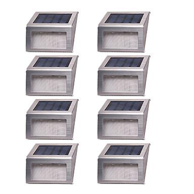 8pcs 1 w luz de grama led luz de calle luz de pared solar impermeable solar decorativa - Iluminacion decorativa exterior ...