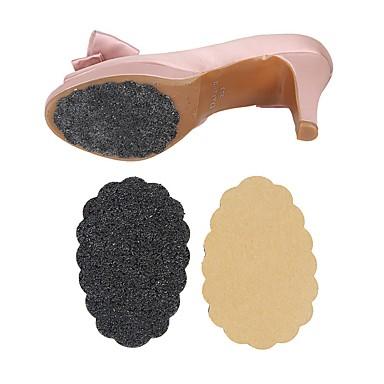 abordables Accessoires pour Chaussures-2pcs Vestimentaire Semelle Intérieures Caoutchouc Plante Printemps Unisexe Noir
