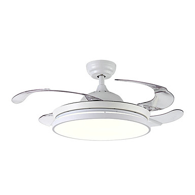 QINGMING® Stropni ventilator Ambient Light Slikano završi Metal LED 110-120V / 220-240V Više boja