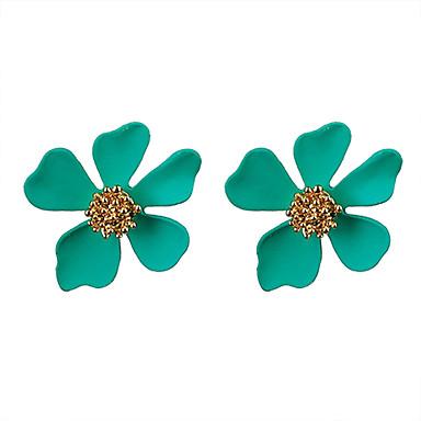 Žene Naušnice Set Klasičan Cvijet Moda Naušnice Jewelry Zelen / Plava / Pink Za Party Dnevno 1set