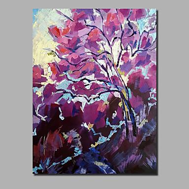 Hang oslikana uljanim bojama Ručno oslikana - Sažetak Cvjetni / Botanički Comtemporary Moderna Uključi Unutarnji okvir / Prošireni platno