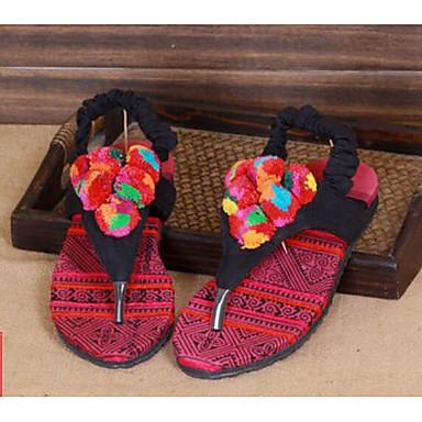 cheap for discount 06715 66af7 Femme Coton Printemps Décontracté Décontracté Décontracté s Talon Plat Noir  661ac4