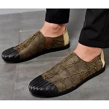 Ανδρικά Παπούτσια άνεσης Μικροΐνα Άνοιξη & Χειμώνας Μοκασίνια & Ευκολόφορετα Μαύρο / Σκούρο καφέ / Χακί