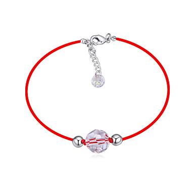 Uže Narukvica - Kristal Lopta Simple Style, pomodan, Moda Red Za Dnevno Žene