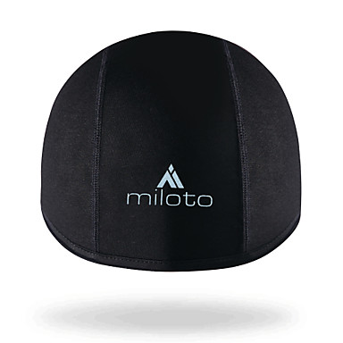 2003174f72c Miloto Cycling Beanie   Hat Helmet Liner Skull Cap Beanie Black Winter UV  Resistant Fleece Lining