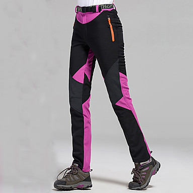 Women's Hiking Pants Outdoor Waterproof Windproof Quick Dry Softshell Pants / Trousers Bottoms Hiking Climbing Outdoor Exercise Fuchsia Red Blue L XL XXL / Stretchy