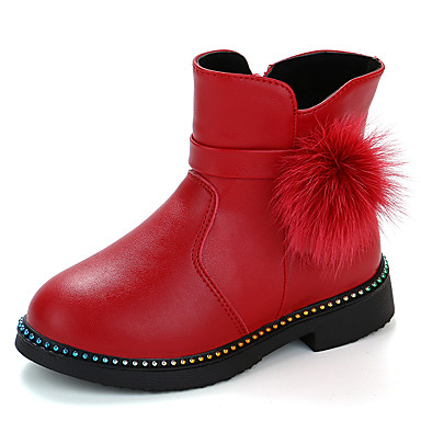 Christmas Boots For Girls.Girls Shoes Pu Polyurethane Winter Fall Winter Snow