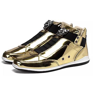 Muškarci Udobne cipele PU Proljeće Ležerne prilike Sneakers Nosite dokaz Zlato / Crn / Pink