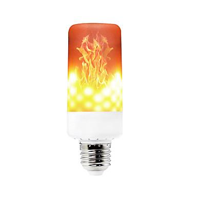 abordables Ampoules électriques-YWXLIGHT® 1pc 6 W Ampoules Maïs LED 550-600 lm E14 B22 E12 T 99 Perles LED SMD 3528 Intensité Réglable Décorative Flamme vacillante Blanc Chaud 85-265 V