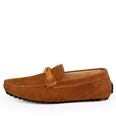 Herrn Komfort Schuhe Wildleder Sommer Loafers & Slip-Ons Dunkelblau / Braun / Wein