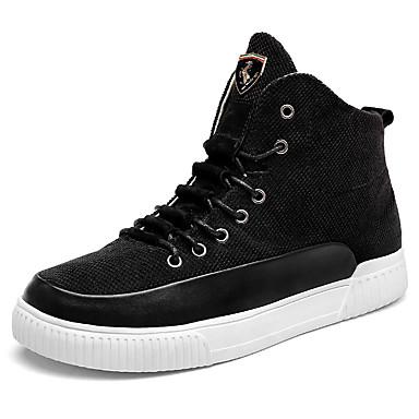 Muškarci Udobne cipele PU Jesen zima Stil preppy Čizme Ugrijati Čizme gležnjače / do gležnja Crn / Žutomrk