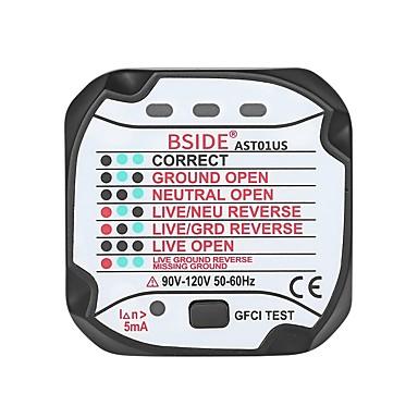 voordelige Test-, meet- & inspectieapparatuur-bside ast01 stopcontact tester circuit polariteit spanningsdetector stekkerbreker voor stopcontacten - us plug