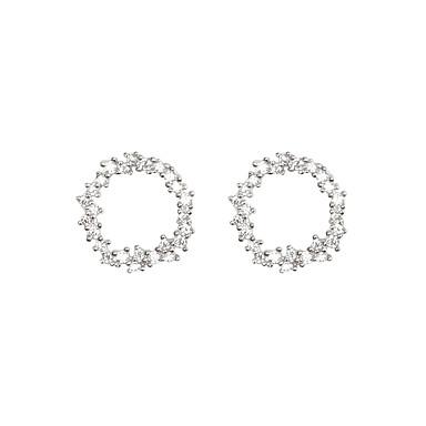 voordelige Dames Sieraden-Wit Klassiek Oorbel - Kubieke Zirkonia, S925 Sterling Zilver Diamant Europees, Eenvoudige Stijl, Modieus Goud / Zilver Voor Evenement / Feest Dagelijks Dames / 1 paar