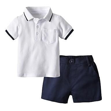 3d8595391f386 hesapli Erkek Çocuk Kıyafetleri-Çocuklar Genç Erkek Actif Temel Günlük Okul  Desen Zıt Renkli Kısa