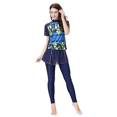 Žene Osnovni S naramenicama Crn Navy Plava Sive boje Gaće Tankini Kupaći kostimi - Cvjetni print XL XXL XXXL Crn
