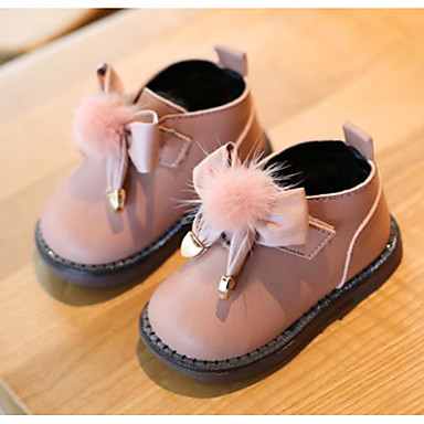 9db2e455fa Chica Zapatos Cuero Invierno Primeros Pasos / Zapatos para niña florista  Zapatillas de deporte Pajarita /