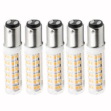 billige Elpærer-5pcs 4.5 W LED-kornpærer 450 lm BA15d T 76 LED perler SMD 2835 Mulighet for demping Varm hvit Kjølig hvit 220 V