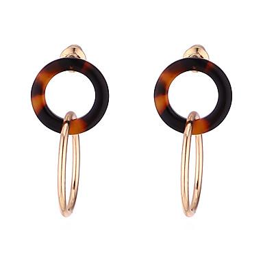 abordables Boucle d'Oreille-Femme Boucle d'Oreille Pendantes Bicolore Géométrique Coréen Mode Des boucles d'oreilles Bijoux Dorée Pour Casual Sortie 1 paire