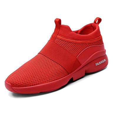 Erkek Ayakkabı Örümcek Ağı Bahar Günlük Atletik Ayakkabılar Yürüyüş Günlük için Beyaz / Siyah / Kırmzı