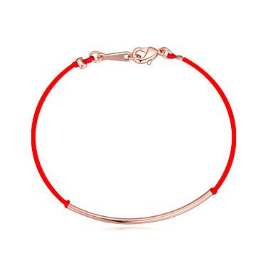 voordelige Dames Sieraden-Touw Armband - Verguld Lucky Standaard, Eenvoudige Stijl, Modieus Goud / Zilver / Lichtbruin Voor Dagelijks Dames