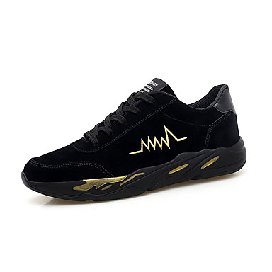 Men's Comfort Shoes Pigskin Spring & Summer Sporty Athletic Shoes Running Shoes Yellow / Black / Gold / Black and White
