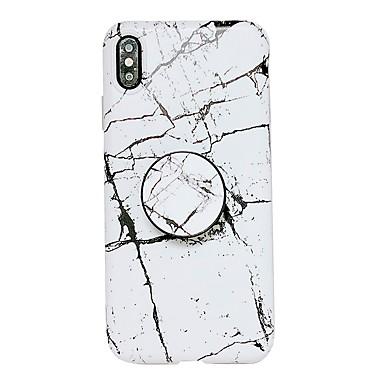 hesapli iPhone Kılıfları-Pouzdro Uyumluluk Apple iPhone XS / iPhone XR / iPhone XS Max Satandlı / IMD Arka Kapak Mermer Yumuşak TPU