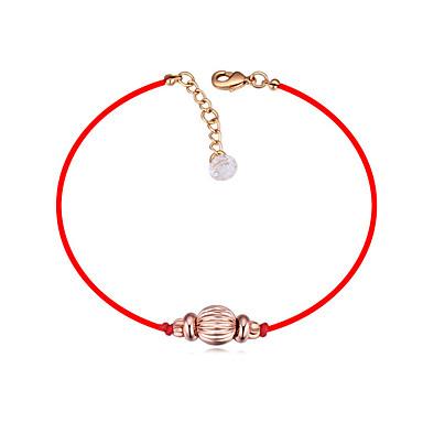 Corda Bracciale - Cristallo, Placcato In Oro Palla Stile Semplice, Di Tendenza, Portafortuna Oro Per Quotidiano Per Donna #07060852
