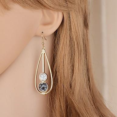 voordelige Oorbellen-Dames Lang Druppel oorbellen oorbellen Peer Vintage Elegant Sieraden Wit / Groen Voor Bruiloft Feest 1 paar