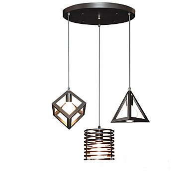 3-Light Cluster Anheng Lys Omgivelseslys Malte Finishes Metall designere 110-120V / 220-240V Varm Hvit Pære ikke Inkludert / E26 / E27