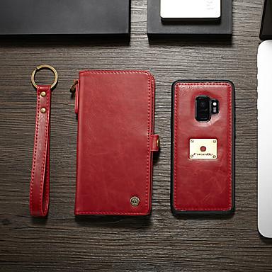 Θήκη Za Samsung Galaxy S9 Novčanik / Utor za kartice / Zaokret Korice Jednobojni Tvrdo PU koža