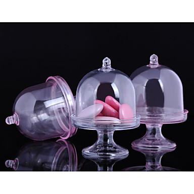 Oval Shape plastika Naklonost Holder s U slojevima Apothecary Candy Jar - 12pcs