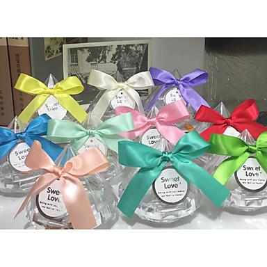 abordables Support de Cadeaux pour Invités-Taper Shape Plastique Titulaire de Faveur avec Motif floral perlé & dispersé Bocaux à Bonbons et Bouteilles - 1 Pièce