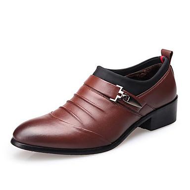 Ανδρικά Παπούτσια άνεσης Μικροΐνα Φθινόπωρο & Χειμώνας Oxfords Μαύρο / Καφέ