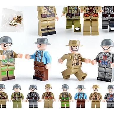 povoljno Igračke i igre-Kocke za slaganje Kockice minifigure 12 pcs Vojni Grad Vojnik kompatibilan Legoing simuliranje Sve Igračke za kućne ljubimce Poklon