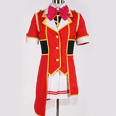 Inspirirana Ljubav uživo Cosplay Anime Cosplay nošnje Japanski Cosplay Suits Jednobojni / Mašna Top / Suknja / Luk Za Muškarci / Žene